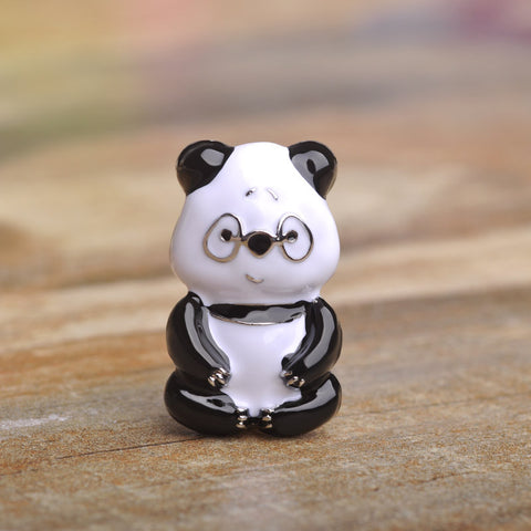 Black Eyes Panda Brooches Enamel Pin Best Gift For Child Kids