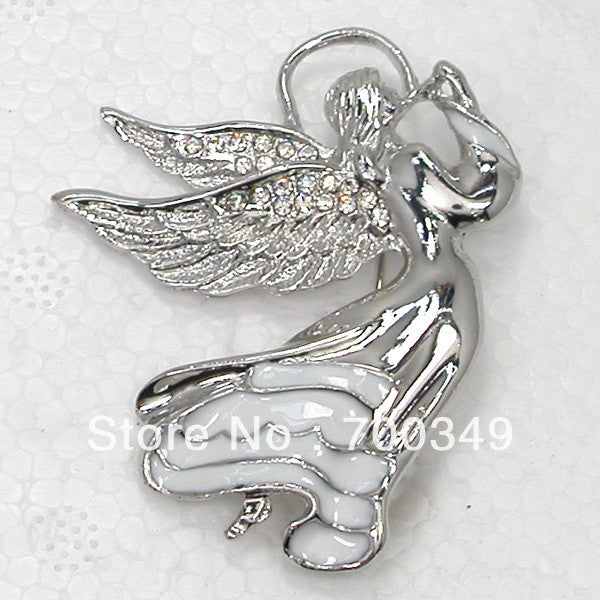 Crystal Rhinestone Fairy Angels Enamel Pin Brooch Fashion Brooches Jewelry