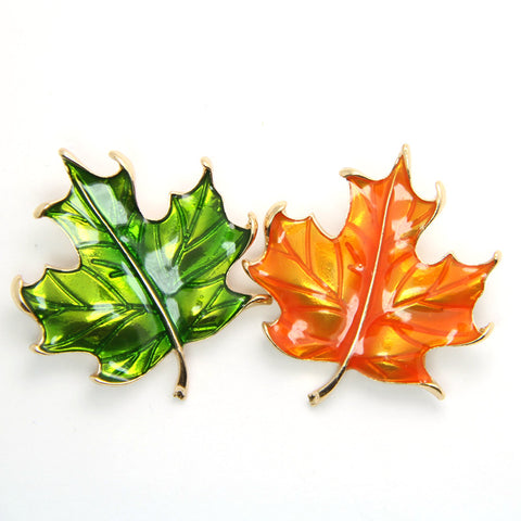 Vintage Maple Leaf Brooch For Men Women Leaves Leaf Brooches Man Fashion Broche Enamel Pin