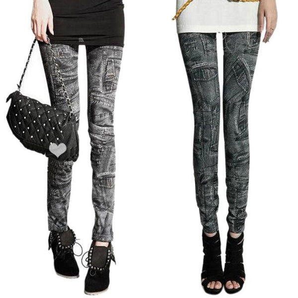 Sexy Women Jeans Skinny Leggings Stretchy Slim Leggings Skinny Pants Fitness Leggings