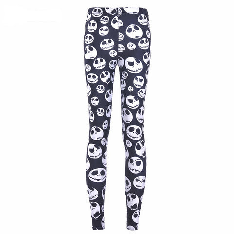 Digital Print Pants Jack Skellington Leggings Fitness Skinny Leggings Plus Size