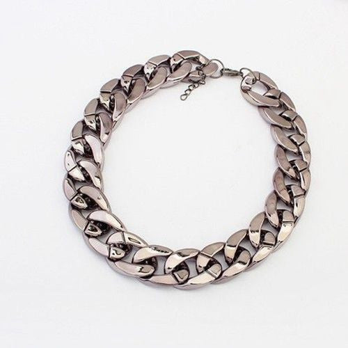 Luxury Vintage Bib Statement Choker Link Chain Charm Design Indian Jewelry