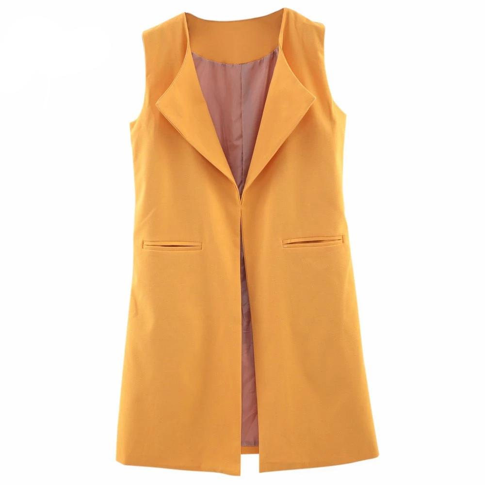 Winter Autumn Long Women Vests Plus Size Sleeveless Vest Cotton Suit Women Waistcoat