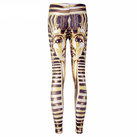 Digital Print Woman's Fashion King Tut Leggings