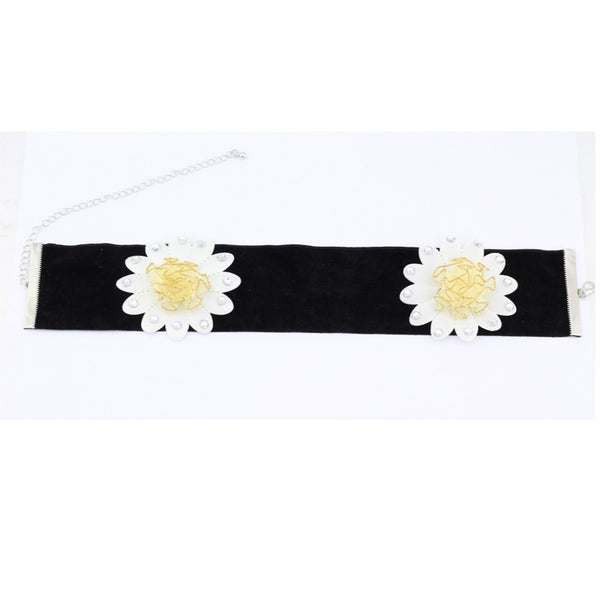 Black Velvet Choker Wide Ribbon Jewelry Fashion Gothic Retro Punk Handmade Goth Jewelry