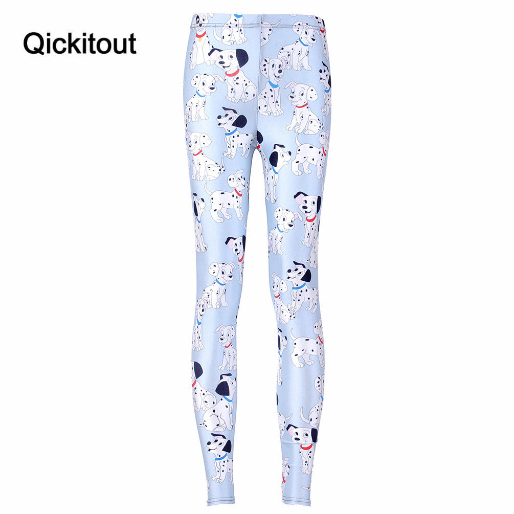 Digital Printing 101 Dalmatian Toasties Leggings For Women Pants