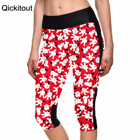 Women's Leggings Character Finger Slap Digital Print Women High Waist Side Pocket Phone Pant