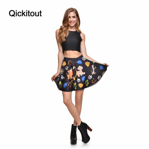 Wholesale Fashion New Women Sexy Skirts Ladies Hakuna Matata Skater Skirts Above The Knee Saia Midi