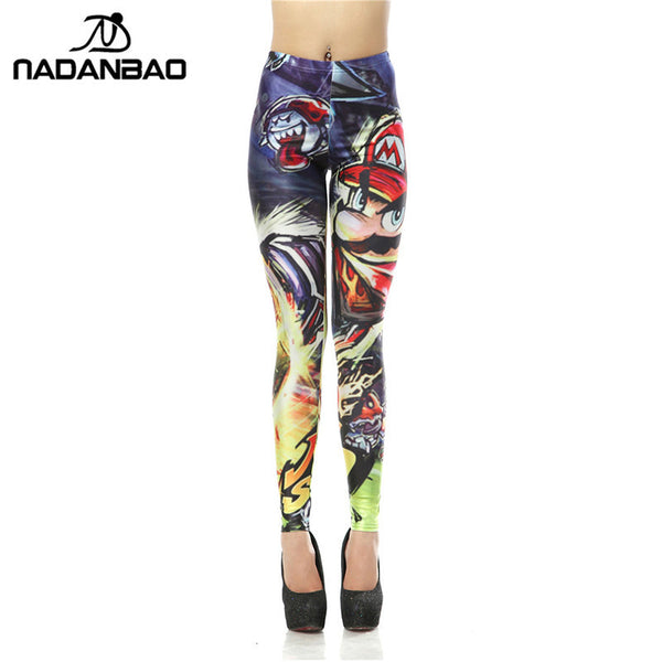 New Design Super Mario Game 3D Digital Legins Printed Leggins Woman Leggings