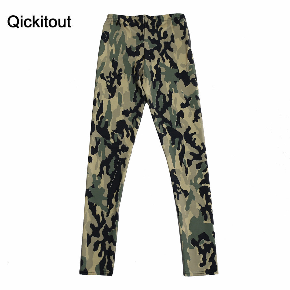 Hot! Sexy! Army Leggings New Shiny Leggings Women Fashion Clothing Oem Digital Print Pants Trousers Camo Leggings