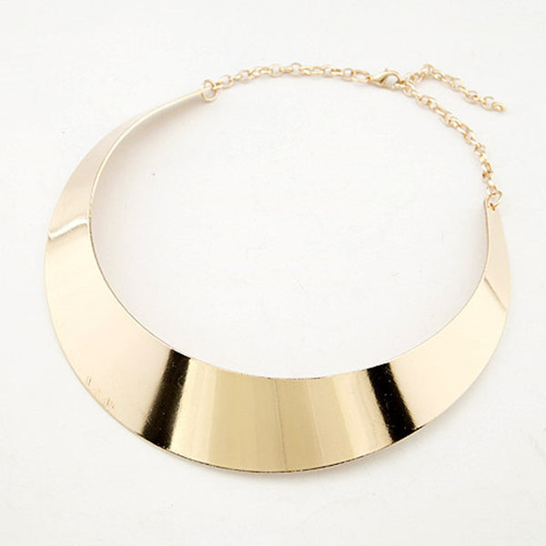Gold Plated Silver Plated Punk Style Choker Jewelry Collier For Women