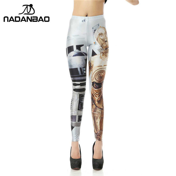 Fashion Legins Star Wars Artoo Threepio 3d Digital Leggins Printed Women Leggings
