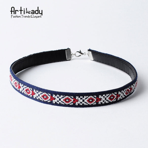 Artilady Leather Boho Choker Fashion Multicolor for Women Jewelry Party