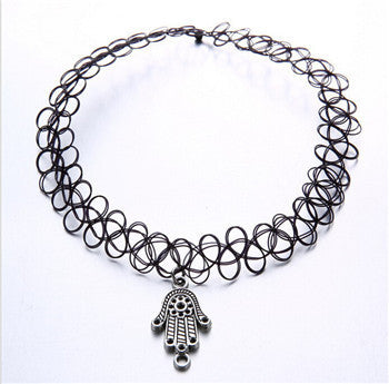 Handmade Hot Selling Vintage Stretch Tattoo Choker Gothic Punk Grunge Henna Elastic with Choker