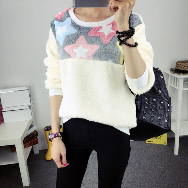 Hoody Spring Autumn Long Sleeve Casual Sweatshirts Women Cute Print Hoodies Moleton Feminine Oversize