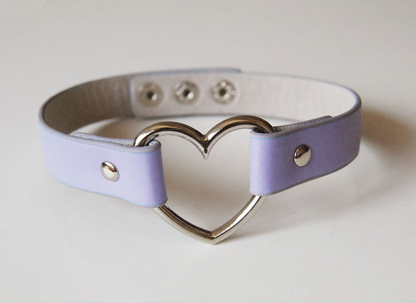 Leather Rivet Heart Funky Torques Collar Gothic Choker Fine Jewelry