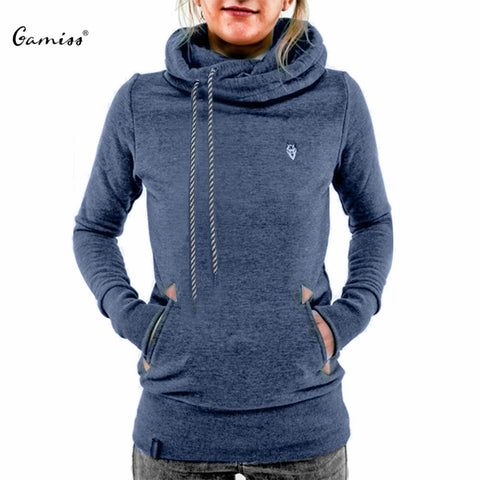 Hoodies Sweatshirt Casual Hooded Long Sleeve Pocket Design Embroidered Hoodie For Women