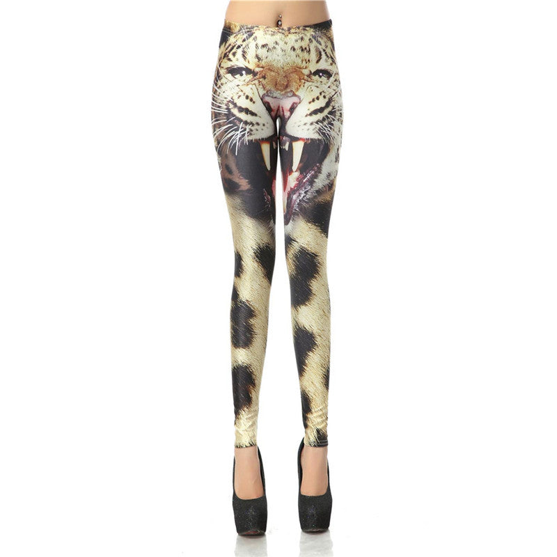 Spotted Dog 3d Digital Legins High Waist Elastic Leggins Printed Women Leggings