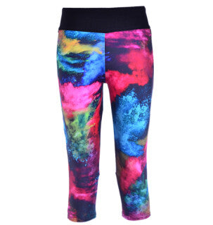 Summer Style Women's Leggings Fashion Colorful Painted Canvas Digital Print Women's High Waist Side Pocket Phone Pants