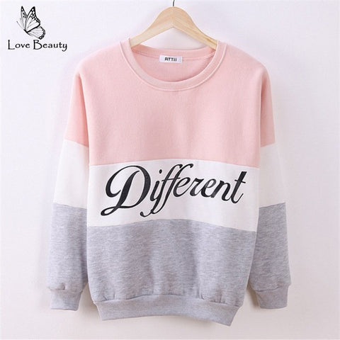 Autumn and Winter Women Hoodies Printed Letters Different Sweatshirt Hoody