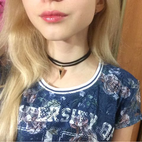 Women Chokers Vintage Triangle Tattoo Choker