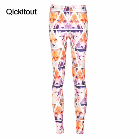 Cute Dog Print Checkered Pants Slim Fitness Leggings