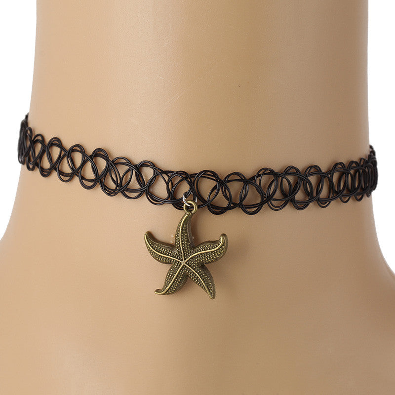 Collares Vintage Stretch Tattoo Choker Punk Retro Gothic Elastic for Women