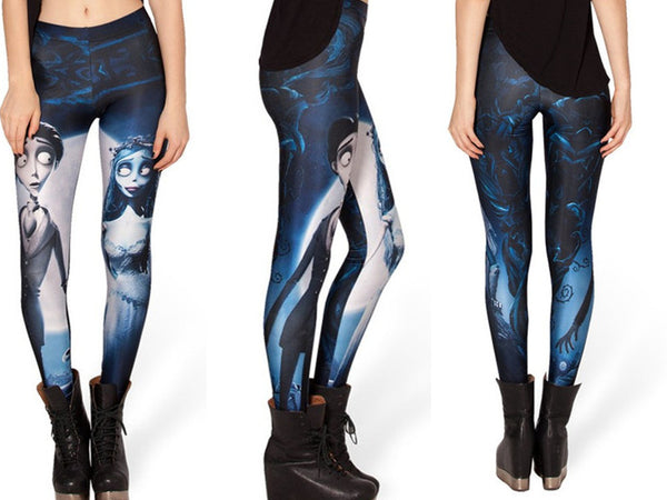 Skull Blood Cthul Hu Middle Earth Map Corpse Bride N7 Mechanical Mermaid White Hell Yeah Leggings
