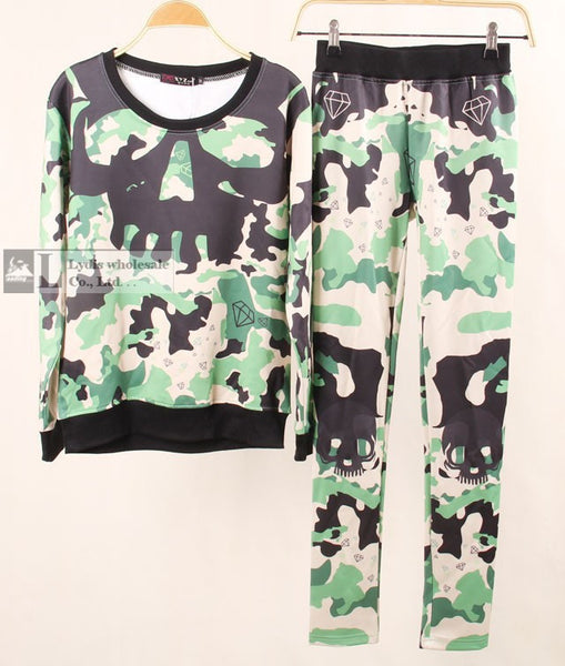 Spring Winter Women's Clothing Animal Tiger Camouflage Skull 3D Print Sweatshirt Hoodies