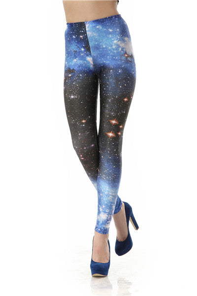 Women Leggings 3D Digital Van Gogh Starry Night Galaxy Print Women Leggings