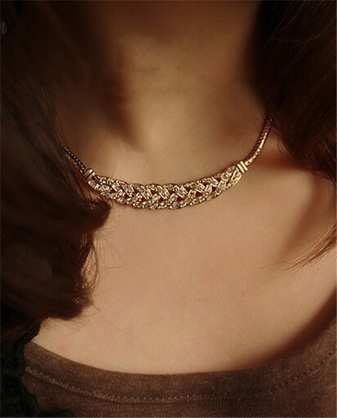 Crystal Romantic Choker Chain New Design Spiral Costume Jewelry Female Fashion Accessory