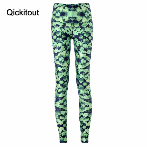 Women Sport Pants Womens Trousers Fashion Clover Green Fresh Pant Capris Cute Fitness Leggings