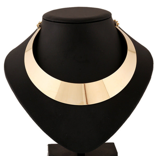 Alloy Statement Women Short Collares Mujer Chunky Choker Gold