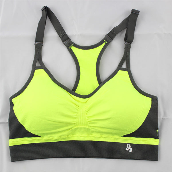 Sports Bra for Running Padded Shakeproof Top Adjustable Fitness Bras Candy Color