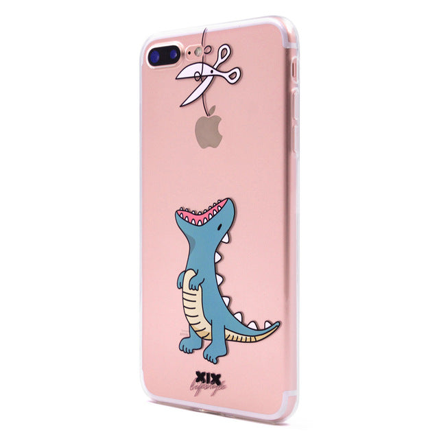 hot sale online fc571 dcc35 KEFU 2017 new arrivals for funda iPhone 6S case 5 5S 6 6S 7 8 Plus X Cute  Dinosaur soft silicone TPU cover for iPhone 7 case
