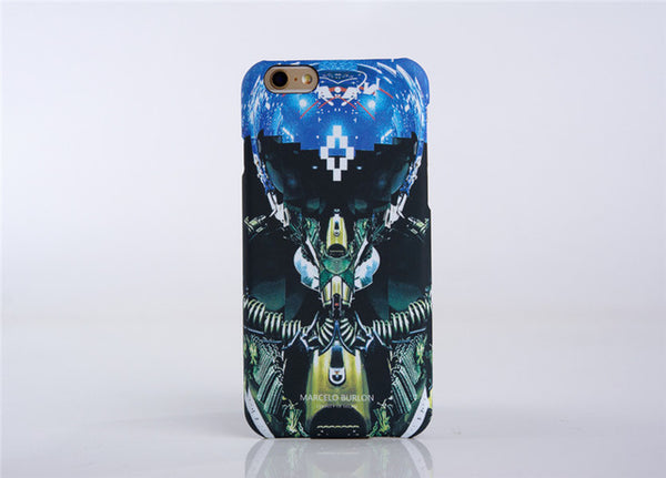 2017 New For iPhone 7 Marcelo Burlon Cover Tiger Fox Skull PC Case For iPhone 6 6S 7 Plus 5 SE Marcelo Case Back Phone Case