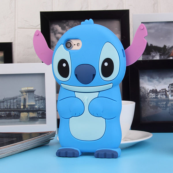 3D Cartoon Soft Silicone Phone Case for iPhone 5 5S 6 6S 7 Plus Cover Mickey Judy Rabbit Smile Cat Tiger Stitch Unicorn Animal