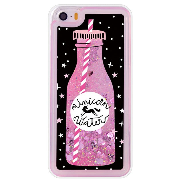 quality design 763a3 a2caa Luxury Glitter Liquid Phone Cases For iPhone 5s Case Silicone Coque For  iPhone 5se Case For iPhone SE Cover For iPhone 5 Case