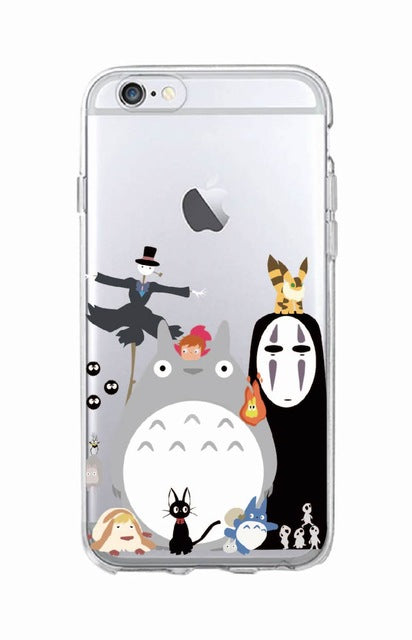 4bd6674791 Cute Totoro Spirited Away Ghibli Miyazaki Anime Soft Clear Phone Case –  Intel Retro