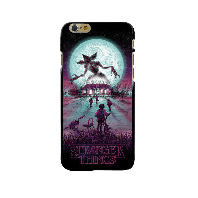 pretty nice b7379 bae3f TV Stranger Things Pattern Case For iPhone 6 6S 7 8 Plus X 5 5S SE Black  Soft Silicone Phone Cases Cover For Fundas iphone 7Plus