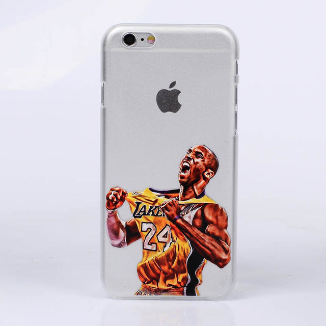 best service a472f 11cdb Basketball Phone Case for iphone 6 Cases Silicone back Cover for iphone 8 7  plus 5 5se 6s curry jordan Kobe Bryant Wade
