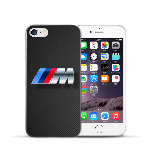 premium selection 6f117 000dd Yooyour Slim BMW hard plastic Cover Case For Apple iphone 4 4s 5 5 5s SE 6  6S 6PLUS 7 7PLUS X 8 8PLUS