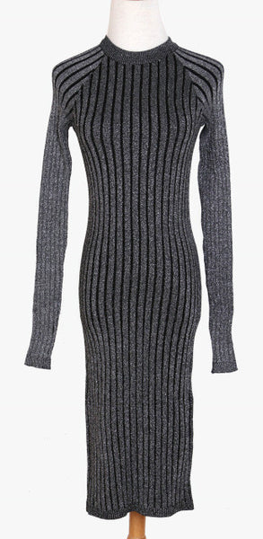 Women sweater dress  2017 spring autumn long sexy Lurex Bodycon Dresses Elastic Skinny twinkle Knitted  Dress vestidos