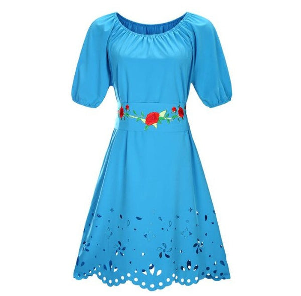 2017 New Designer Women Dress Mini Above Knee Vestidos Lace Sashes A Line Patchwork Print Flower Dress Vintage 6XL Plus Size