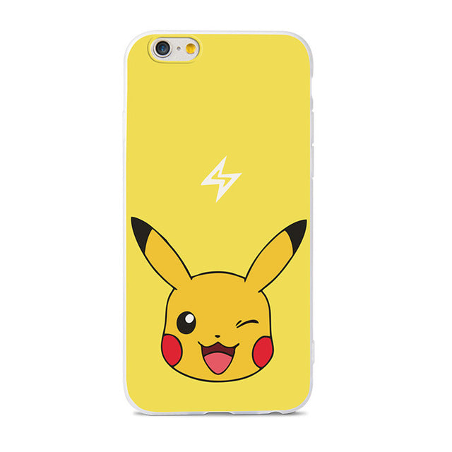 352705efe2 Cute Cartoon Pokemons Pattern Soft TPU Case For iPhone 6 Case For iPho –  Intel Retro