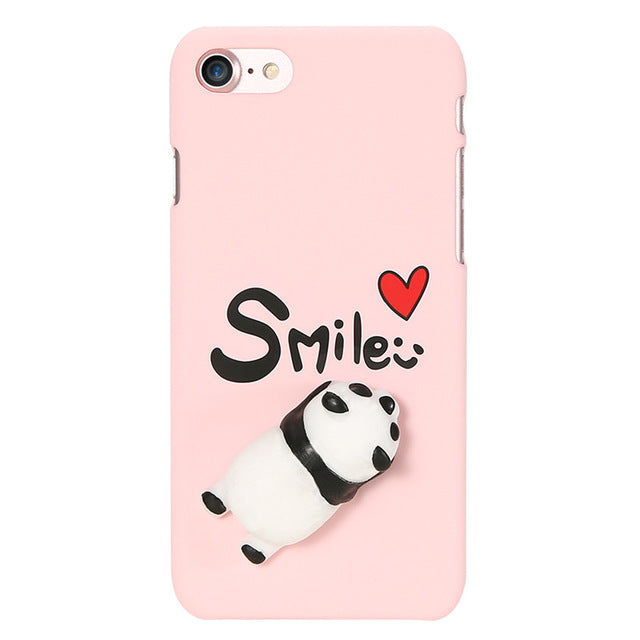 quality design 6011d dfbc3 KISSCASE Case For iPhone 6 6s Plus 7 7 Plus Phone Cases 3D Squishy Cute  Panda Piggy PC Phone Cover For iPhone 7 7 Plus 6 6s Plus
