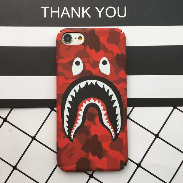 5Plus Luminous Bape Shark Case for iphone 6 6 Plus Coque Slim Painted Hard PC Capa For iPhone 7 7plus 5 5S Funda Phone Back Case