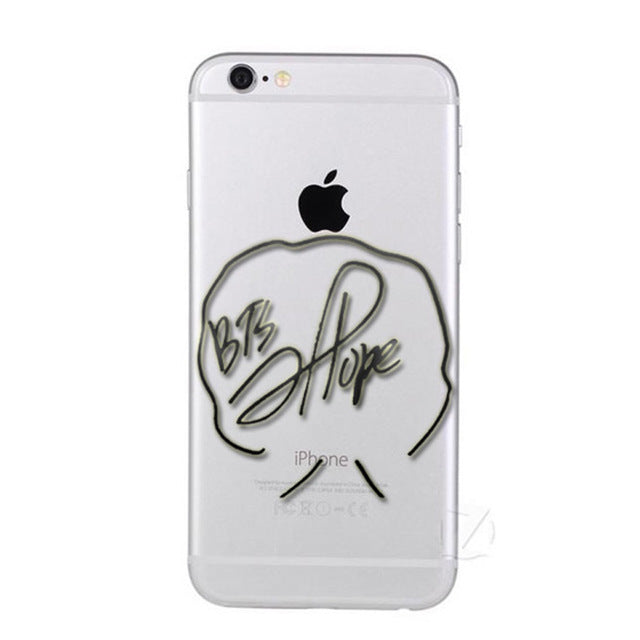new style 9b2cf 97b0e UVR Brand BTS signature Phone Case Cover for iPhone 5 5s 6 6s 7 8 Plus X  Transparent soft case for samsung S6 S7 S8 edge Note 5
