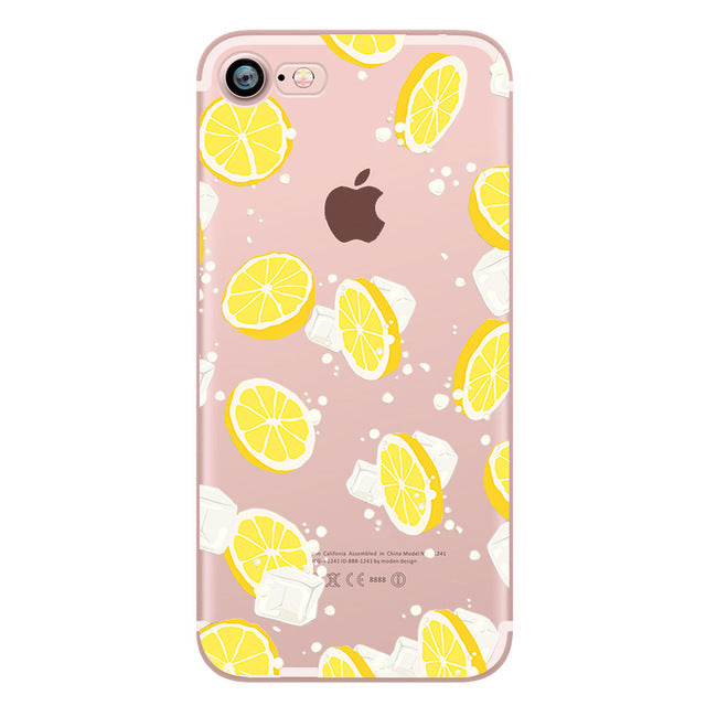450734867c ... ciciber Flamingo Pineapple Flower food Donuts Lemon cat Rabbit cherry  soft silicone case cover for iphone