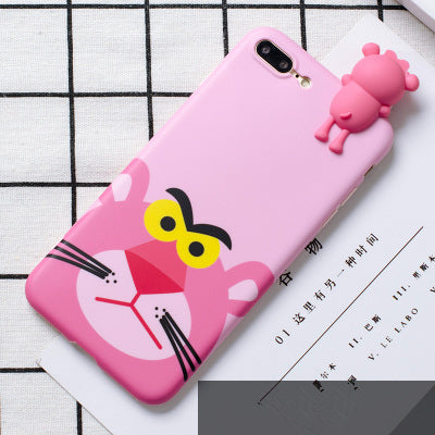 low priced dcb86 28b1e Cute 3D lucky cat phone Cases For iphone X 6 6s 6plus 7 7Plus 8 8plus  Cartoon monsters tiger toys soft silicon case